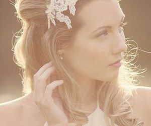 long hair, blonde hair, and wedding hairstyles image