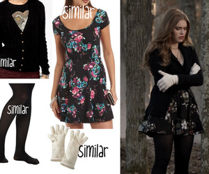 dress, gloves, and outfit image