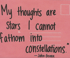 quote, john green, and stars image