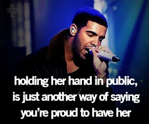quote, Drake, and proud image