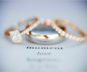 wedding, gold, and ring image