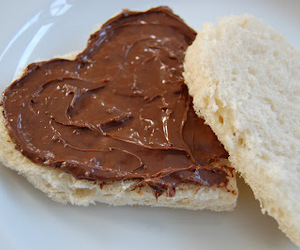 nutella, heart, and food image