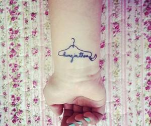 fashion, hanger, and tattoo image