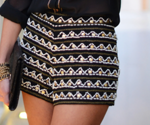 embelished, detail, and embroided shorts image
