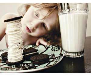 milk, oreo, and cute image