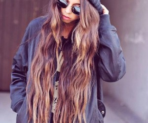brunette, sunglasses, and hair image