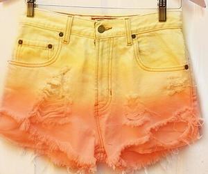 orange, shorts, and yellow image