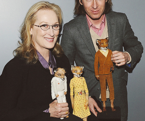 meryl streep, wes anderson, and fantastic mr fox image