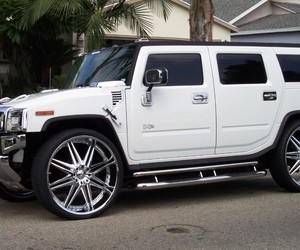 car, luxury, and hummer h2 image