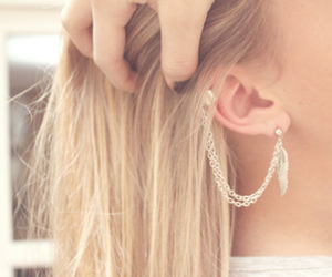 blonde, earings, and hair image