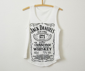 black and white, fashion, and jack daniels image
