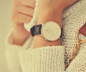 fashion, pullover, and watch image