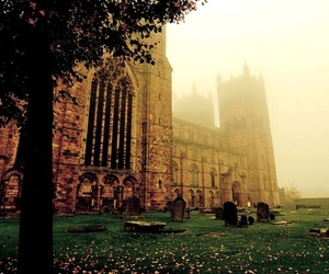 cathedral, durham, and foggy image