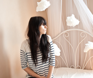 bedroom, cloud, and girl image