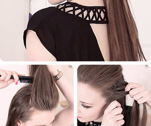 diy, hairstyles, and ponytail image