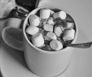 b&w, candy, and marshmallows image