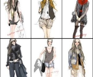drawing, fashion, and style image
