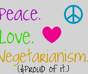 peace, proud, and vegetarianism image