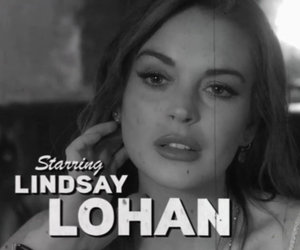 lindsay lohan, black and white, and movie image