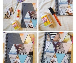 book, diy, and note image