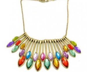 colourful, peacock necklace, and necklace image