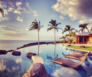 ocean, palms, and relax image