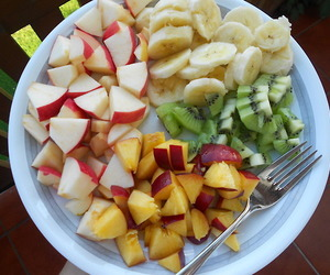 beach, fruit, and healthy image