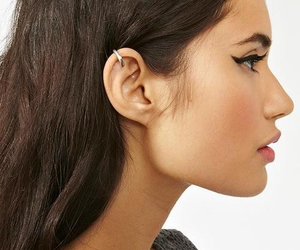 profile, very beautiful profile!, and helix+piercing+ image