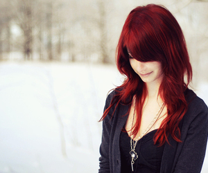 girl and redhair image