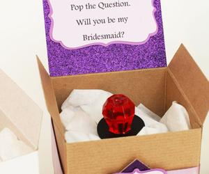bridesmaid, ring, and wedding image
