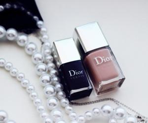 dior, nails, and pearls image