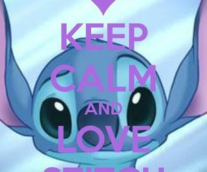 stitch, disney, and keep calm image