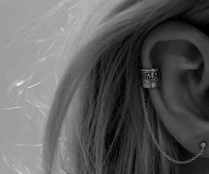 ear, earrings, and ear cuff image