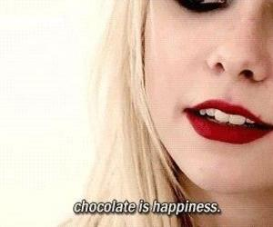 chocolate, Taylor Momsen, and happiness image