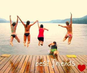 friends, best friends, and jump image