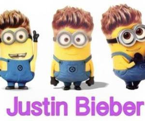 minions, justin bieber, and justin image