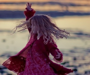 child, dance, and beach image