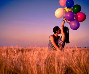 baloon, boy, and couple image