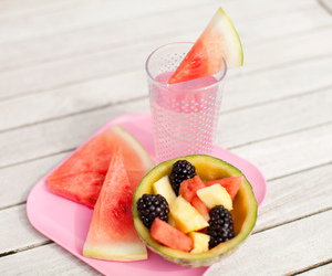 beach, watermelon, and drink image