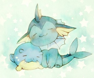 pokemon, vaporeon, and cute image