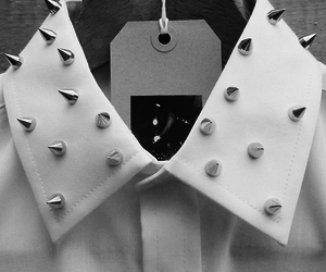 fashion, spikes, and white image
