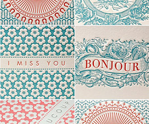 letterpress, turquoise, and red image