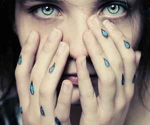 girl, tears, and cry image