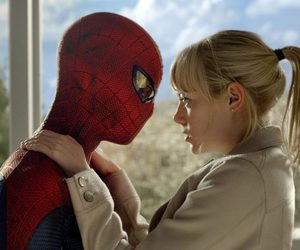emma stone, gwen stacy, and peter parker image