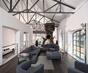 france, living room, and industrial image
