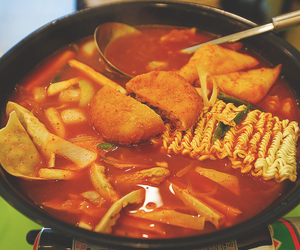 korean food, tteokbokki, and ddukbokki image