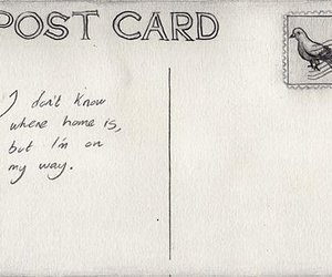 home, postcard, and text image