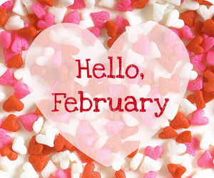 february, hearts, and red image