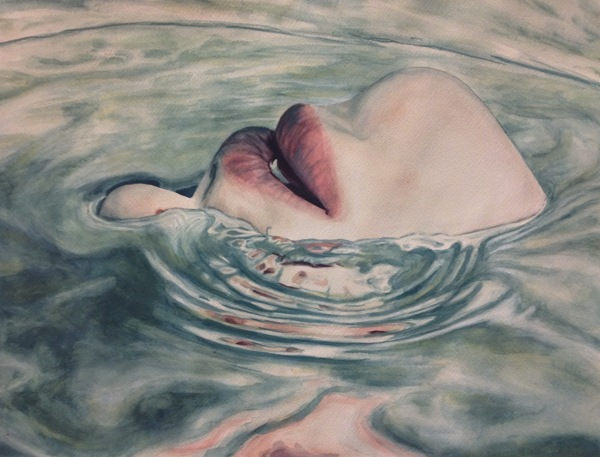 art, water, and lips image