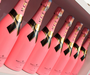 pink, champagne, and moet image